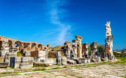 The Amphitheater of Capua, the second biggest roman amphitheater Stock Images