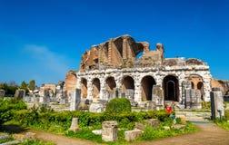 The Amphitheater of Capua, the second biggest roman amphitheater Royalty Free Stock Photos