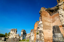 The Amphitheater of Capua, the second biggest roman amphitheater Royalty Free Stock Image