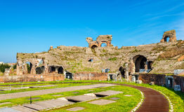 The Amphitheater of Capua, the second biggest roman amphitheater Stock Photos