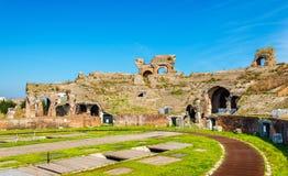 The Amphitheater of Capua, the second biggest roman amphitheater Stock Photos