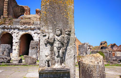 Amphitheater in Capua-Stadt, Italien Lizenzfreie Stockfotografie
