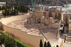Amphitheater in Cartagena, Spain Stock Photo