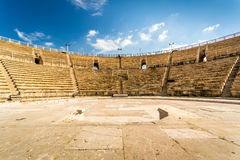 Amphitheater in Cesarea National Park, Israel Royalty Free Stock Images