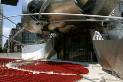 amphitheater chicago royaltyfri fotografi