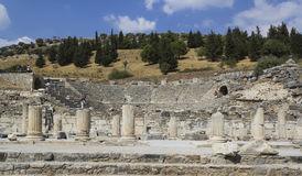Amphitheater2 (Coliseum) in Ephesus Stock Photography