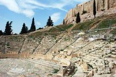 Amphitheater dell'acropoli Fotografia Stock