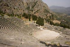 Amphitheater in Delphi Stockbilder