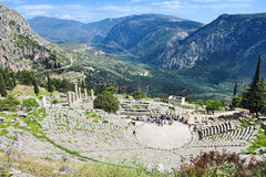 Amphitheater at Delphi Stock Photo