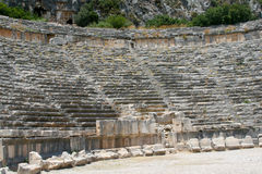 Amphitheater in Demre. Circus, the amphitheater in Demre, Turkey Stock Photos