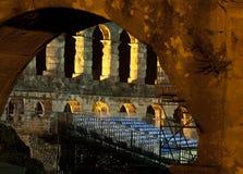 Amphitheater in den Pula Lizenzfreie Stockbilder