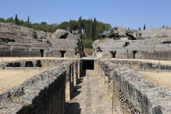 Amphitheater der römischen Stadt von Italica Lizenzfreie Stockfotografie