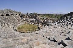 Amphitheater an der Seite Stockfotos