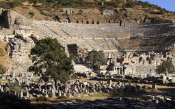 Amphitheater der Türkei-Ephesus Lizenzfreies Stockbild