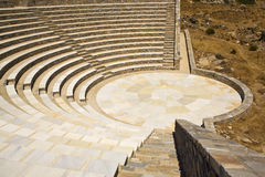 Amphitheater do grego clássico, Greece Fotografia de Stock