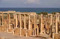 Amphitheater dos magnum de Líbia Tripoli Leptis fotografia de stock royalty free