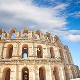 Amphitheater in El Djem Stock Image