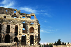 Amphitheater of El Jem Royalty Free Stock Images