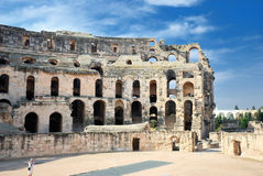 Amphitheater of El Jem Stock Images