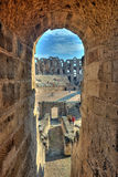 Amphitheater of El Jem in HDR Royalty Free Stock Image