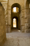 Amphitheater in El Jem, Tunisia. Ruin of ancient amphitheater in El Jem Royalty Free Stock Photos