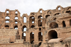 The amphitheater in El-Jem, Tunisia Royalty Free Stock Images