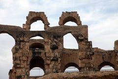 The amphitheater in El-Jem, Tunisia Stock Image