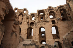 The amphitheater in El-Jem, Tunisia Stock Images