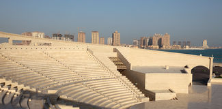 Amphitheater em Katara cultural, Doha Imagem de Stock Royalty Free