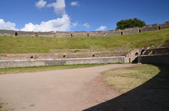 Amphitheater in famous antique ruins of pompeii in southern italy Royalty Free Stock Photo