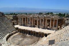 Amphitheater in Hierapolis Stockbild