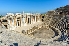 Amphitheater of Hierapolis. Ancient roman Hierapolis of Turkey Royalty Free Stock Images