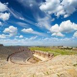 Amphitheater in Hierapolis near Pammukale, Turkey Royalty Free Stock Images