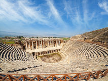 Amphitheater in Hierapolis near Pammukale, Turkey Royalty Free Stock Photo