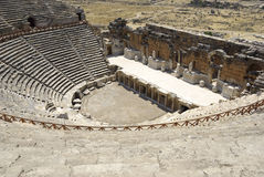 Amphitheater in Hierapolis/Pamukkale. Royalty Free Stock Photos