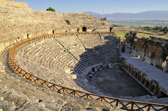 Amphitheater in hierapolis, Pamukkale - Turkey. Stock Photos