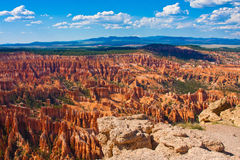 Amphitheater of Hoodoos from Inspiration Point, Bryce Canyon National Park, Utah, USA Royalty Free Stock Photos