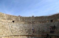 Amphitheater in Jerash (Gerasa of Antiquity), capital and largest city of Jerash Governorate, Jordan Stock Photos