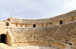Amphitheater in Jerash (Gerasa of Antiquity), capital and largest city of Jerash Governorate, Jordan. Stock Images
