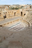 Amphitheater in Jerash (Gerasa of Antiquity), capital and largest city of Jerash Governorate, Jordan. Stock Photo