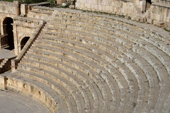 Amphitheater in Jerash (Gerasa of Antiquity), capital and largest city of Jerash Governorate, Jordan Stock Images