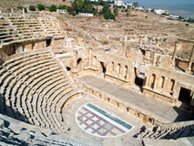 Amphitheater in Jerash, Jordan Royalty Free Stock Image