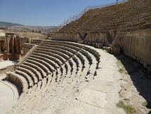 Amphitheater in Jerash. South Theater, Ancient Roman city of Jerash of Antiquity Stock Photography