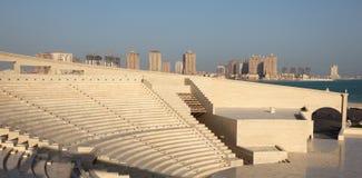 Amphitheater in Katara kulturell, Doha lizenzfreies stockbild