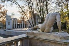Amphitheater  in Lazienki Park (Royal Baths Park), Warsaw, Polan Stock Photos