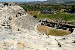 Amphitheater in Milet, Minor Asia, turkey Stock Photo