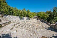 Amphitheater. Monodendri village. Zagoria, Greece Stock Images