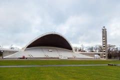 Amphitheater, music stadium Lauluvaljak on the Song Field in Tallinn. TALLINN, ESTONIA- December 30, 2013: Amphitheater, music stadium Lauluvaljak on the Song Stock Photo