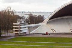 Amphitheater, music stadium Lauluvaljak on the Song Field in Tallinn. TALLINN, ESTONIA- December 30, 2013: Amphitheater, music stadium Lauluvaljak on the Song Royalty Free Stock Image