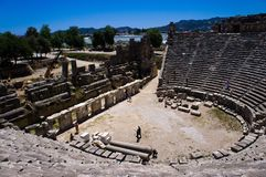 Amphitheater in Myra Royalty Free Stock Image